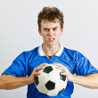 Angry soccer player — Stock Photo #11408928