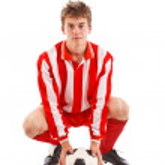 Genç futbolcu — Stok fotoğraf