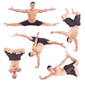Man acrobatics gymnastic — Stock Photo