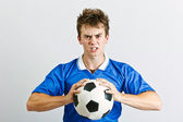 Wütend fußballspieler — Stockfoto