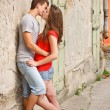 Young couple kissing — Stockfoto