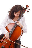 Beautiful woman cellist — Stock Photo