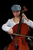 Young cellist — Stock Photo