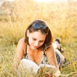 Stockfoto: Young womlies on grass
