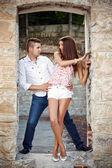 Young fashionable couple — Stock Photo