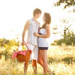 Young couple on picnic — Stock Photo #11975749