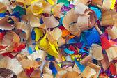 Colourful pencil peels — Stock Photo