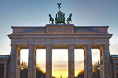 Brandenburger Tor at sunset — Stock Photo