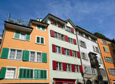 Typical old houses in Zurich — Stock Photo