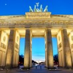 The Brandenburger Tor at sunset — Stock Photo