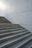 Stairs in front of a wall — Stock Photo