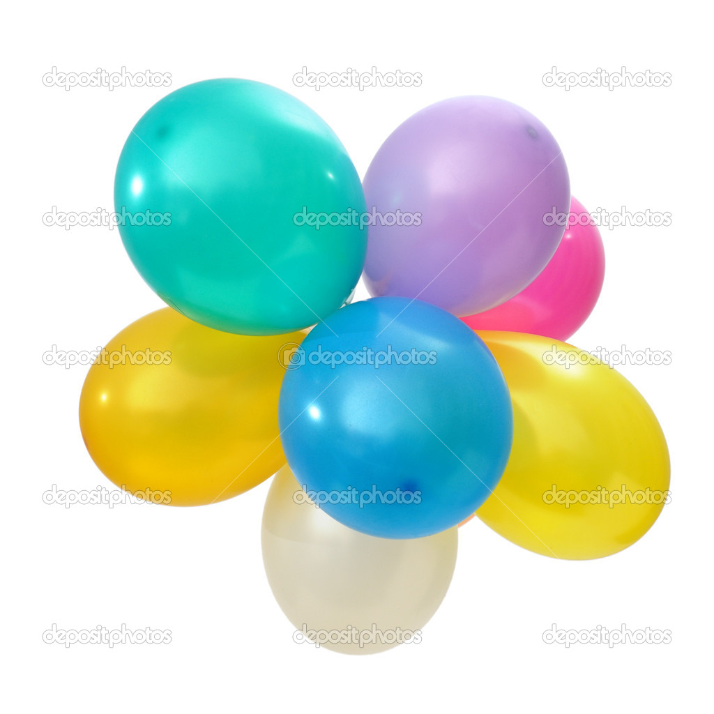 Balloons isolated on a white background  Stock Photo #10959057