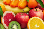 Collection fruit background — Stock Photo