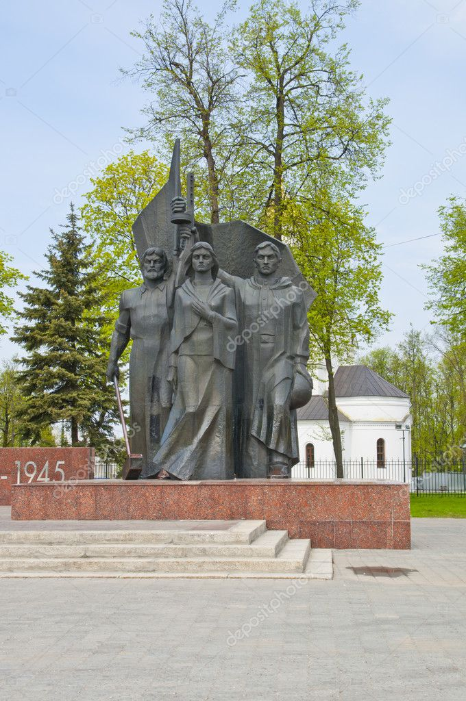 A monument to the heroes of the war in Russia — Stock Photo #11155229