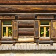Wooden house in the Russian style — Stock Photo