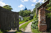 The streets and courtyards of the old Suzdal — Stock Photo