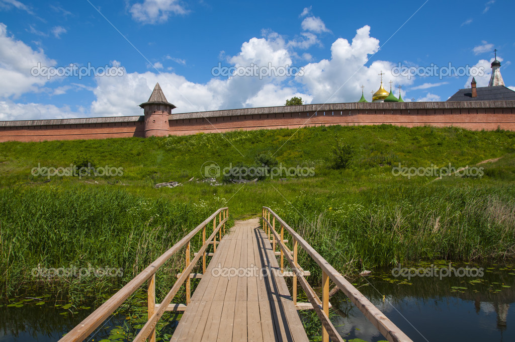 Summer Panorama starinogo Russian city of Suzdal — Stock Photo #11904888