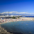 Antibes city beach french riveira — Stock Photo