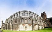 St albans cathedral vägg england — Stockfoto
