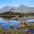 Rannoch moor loch highlands scotland — Stock Photo