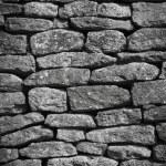 Dry stone wall background english village — Stock Photo
