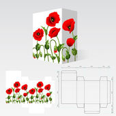 Carton template — Stock Vector