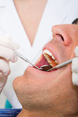 Visiting dentist — Stock Photo