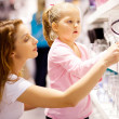 Mother and daughter shopping — Stock Photo #10976041