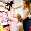 Mother and daughter shopping — Stock Photo #10976081