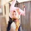 Stock Photo: Playful little girl