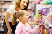 Mother and daughter shopping — Stok fotoğraf