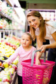 Mother and daughter shopping — Stock Photo