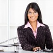 Beautiful young indian businesswoman — Stock Photo #10980969