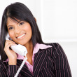 Beautiful businesswoman on phone — 图库照片