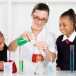 Stock Photo: Science teacher teaching students