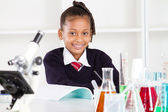 Happy female elementary school pupil — Stock Photo