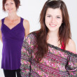 Happy teenager girl and middle aged mother — Stock Photo #11102058