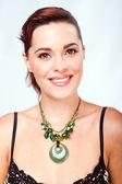 Beautiful woman closeup head shot — Stock Photo