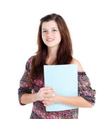 Pretty teen girl with book — Stock Photo