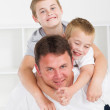 Father and sons — Stock Photo