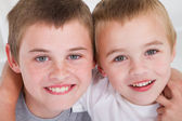 Happy little brothers — Stock Photo