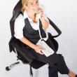 Businesswoman talking on the phone — Stock Photo #11140964