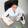 Female science researcher in lab — Stock Photo #11141136
