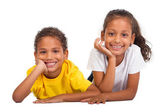 African american brother and sister — Stock Photo