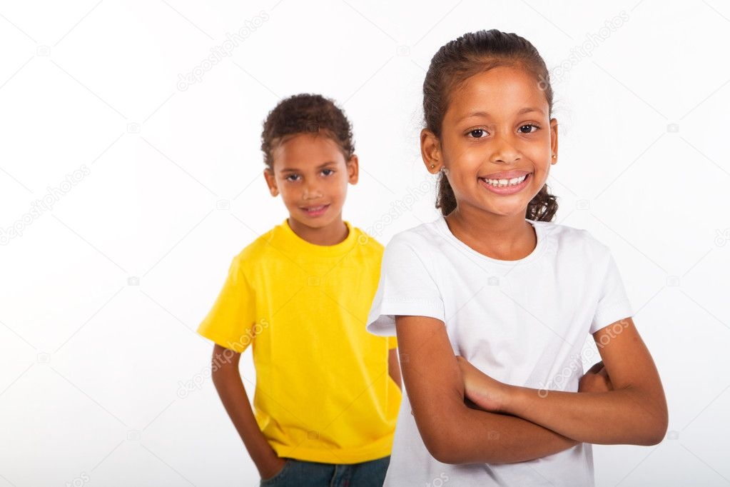 African american brother and sister together — Stock Photo #11141034