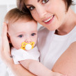Loving mother and baby girl — Stock Photo #11158482