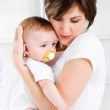 Loving mother and baby girl — Stock Photo