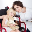 Caring nurse and little patient — Stock Photo