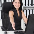 Friendly businesswoman - Stock Photo