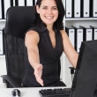Stock Photo: Friendly businesswoman